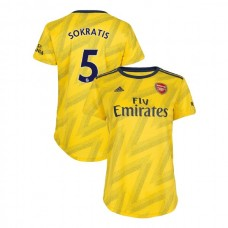 WOMEN'S Arsenal 2019/20 Away #5 Sokratis Papastathopoulos Yellow Authentic Jersey