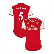 WOMEN'S Arsenal 2019/20 Home #5 Sokratis Papastathopoulos Red Authentic Jersey