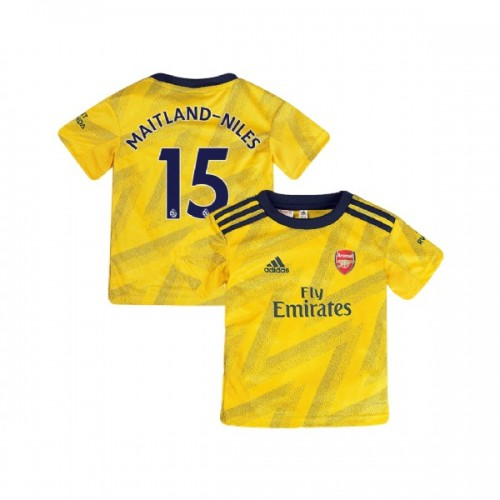 YOUTH Arsenal 2019/20 Away #15 Ainsley Maitland-Niles Yellow Authentic Jersey