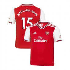YOUTH Arsenal 2019/20 Home #15 Ainsley Maitland-Niles Red Authentic Jersey