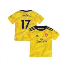 YOUTH Arsenal 2019/20 Away #17 Alex Iwobi Yellow Authentic Jersey