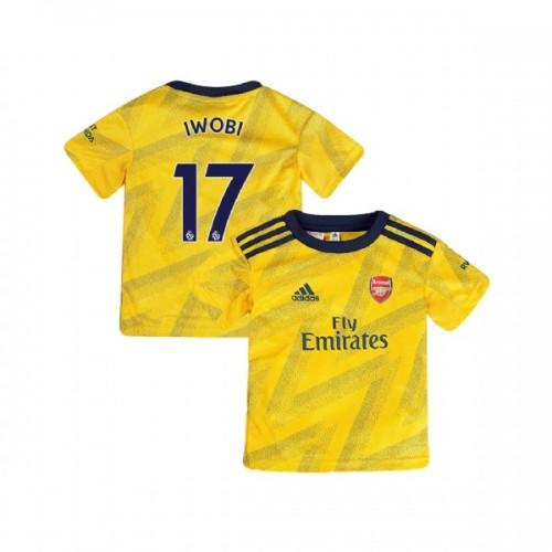 YOUTH Arsenal 2019/20 Away #17 Alex Iwobi Yellow Replica Jersey