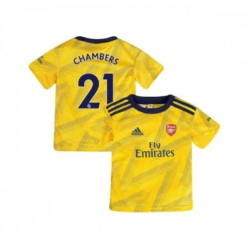 YOUTH Arsenal 2019/20 Away #21 Calum Chambers Yellow Authentic Jersey
