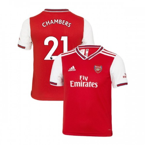 YOUTH Arsenal 2019/20 Home #21 Calum Chambers Red Replica Jersey