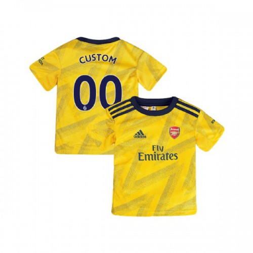 YOUTH Arsenal 2019/20 Away #00 Custom Yellow Authentic Jersey