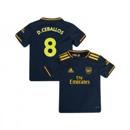 YOUTH Arsenal 2019/20 Third #8 Dani Ceballos Navy Authentic Jersey