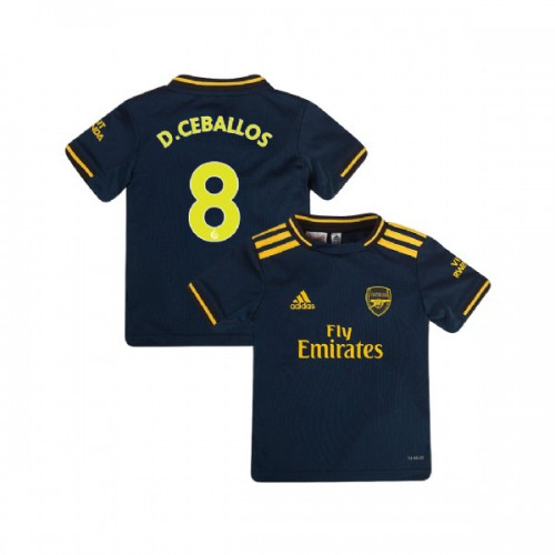 YOUTH Arsenal 2019/20 Third #8 Dani Ceballos Navy Authentic Jersey