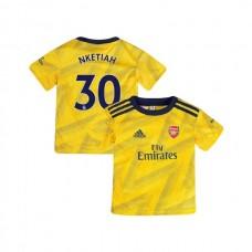 YOUTH Arsenal 2019/20 Away #30 Eddie Nketiah Yellow Authentic Jersey