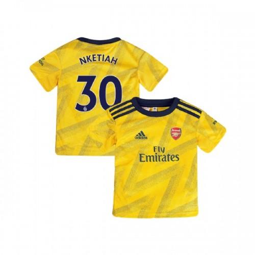 YOUTH Arsenal 2019/20 Away #30 Eddie Nketiah Yellow Replica Jersey