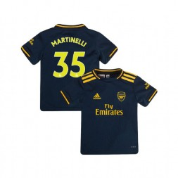 YOUTH Arsenal 2019/20 Third #35 Gabriel Martinelli Navy Authentic Jersey