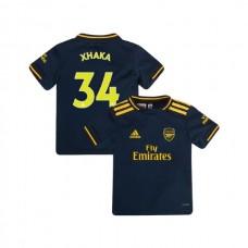 YOUTH Arsenal 2019/20 Third #34 Granit Xhaka Navy Authentic Jersey