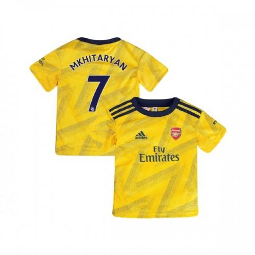 YOUTH Arsenal 2019/20 Away #7 Henrikh Mkhitaryan Yellow Authentic Jersey