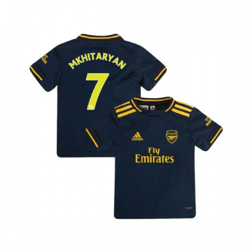 YOUTH Arsenal 2019/20 Third #7 Henrikh Mkhitaryan Navy Replica Jersey