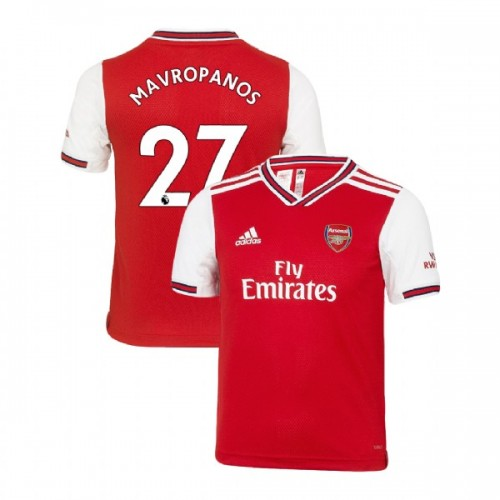 YOUTH Arsenal 2019/20 Home #27 Konstantinos Mavropanos Red Authentic Jersey