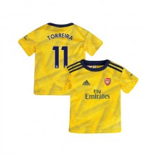 YOUTH Arsenal 2019/20 Away #11 Lucas Torreira Yellow Authentic Jersey
