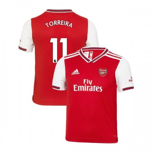YOUTH Arsenal 2019/20 Home #11 Lucas Torreira Red Authentic Jersey