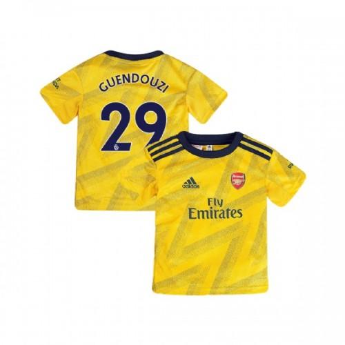 YOUTH Arsenal 2019/20 Away #29 Matteo Guendouzi Yellow Authentic Jersey