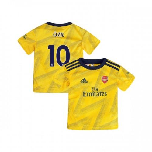 YOUTH Arsenal 2019/20 Away #10 Mesut Ozil Yellow Replica Jersey