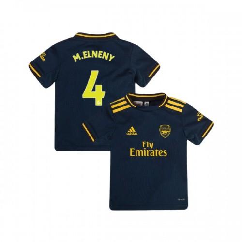YOUTH Arsenal 2019/20 Third #4 Mohamed Elneny Navy Replica Jersey