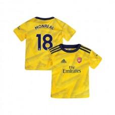YOUTH Arsenal 2019/20 Away #18 Nacho Monreal Yellow Authentic Jersey