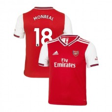 YOUTH Arsenal 2019/20 Home #18 Nacho Monreal Red Authentic Jersey