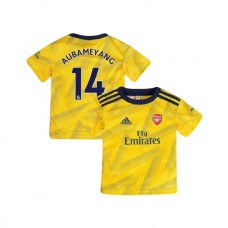 YOUTH Arsenal 2019/20 Away #14 Pierre-Emerick Aubameyang Yellow Authentic Jersey