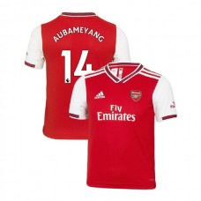 YOUTH Arsenal 2019/20 Home #14 Pierre-Emerick Aubameyang Red Replica Jersey