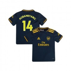 YOUTH Arsenal 2019/20 Third #14 Pierre-Emerick Aubameyang Navy Authentic Jersey