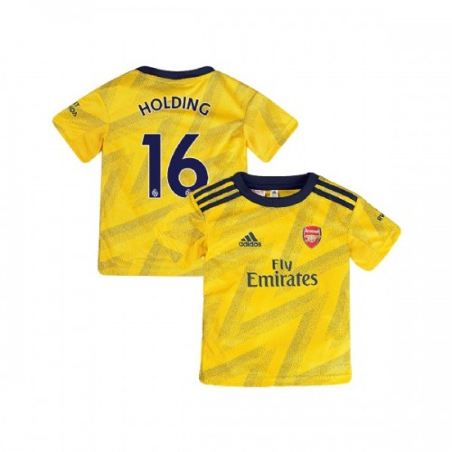 YOUTH Arsenal 2019/20 Away #16 Rob Holding Yellow Replica Jersey