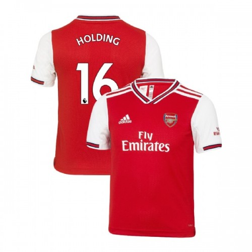 YOUTH Arsenal 2019/20 Home #16 Rob Holding Red Replica Jersey