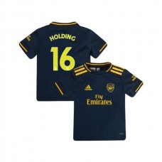 YOUTH Arsenal 2019/20 Third #16 Rob Holding Navy Authentic Jersey