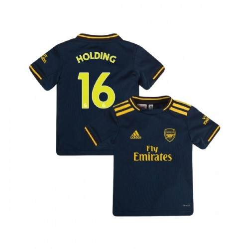 YOUTH Arsenal 2019/20 Third #16 Rob Holding Navy Replica Jersey