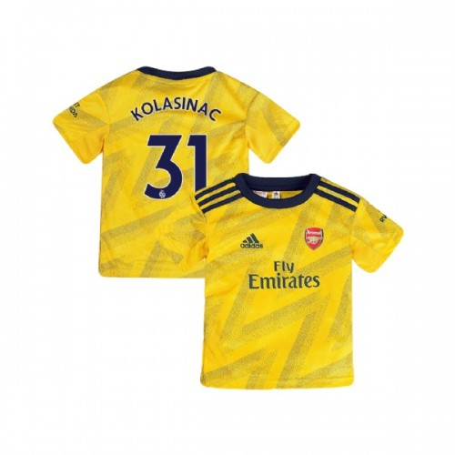 YOUTH Arsenal 2019/20 Away #31 Sead Kolasinac Yellow Replica Jersey