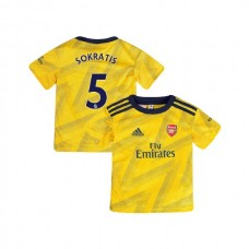 YOUTH Arsenal 2019/20 Away #5 Sokratis Papastathopoulos Yellow Authentic Jersey