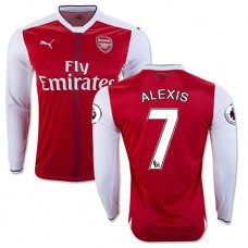 5fdb48951 16 17 Arsenal  7 Alexis Sanchez Red Home Authentic Long Sleeve Shirt