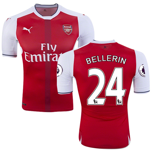 meet 0d207 c9a8b 16/17 Arsenal #24 Hector Bellerin Red Home Authentic Jersey