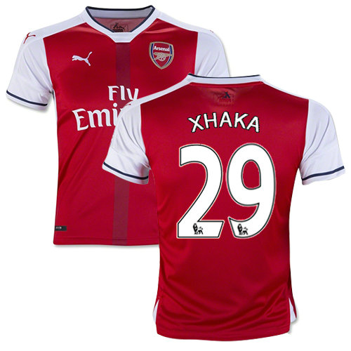 a3c6a221260 Kid s 16 17 Arsenal  29 Granit Xhaka Red Home Authentic Jersey