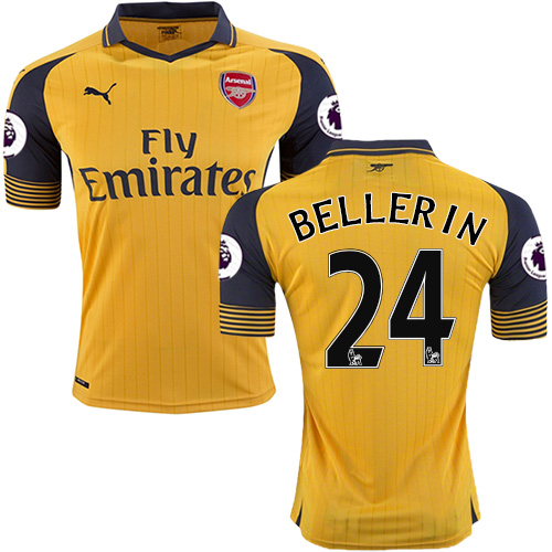 competitive price 12fcf 587b3 Kid's 16/17 Arsenal #24 Hector Bellerin Yellow Away ...