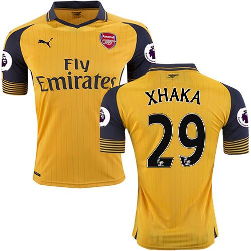 the best attitude 03fb5 42c88 Kid's 16/17 Arsenal #29 Granit Xhaka Yellow Away Replica Jersey